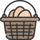basket, box, christianity, easter, egg, holidays