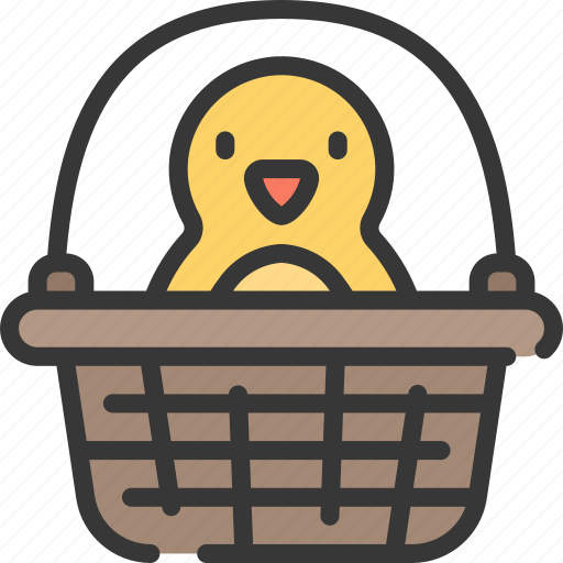 Basket, chick, chicken, christianity, easter, holidays, in icon - Download on Iconfinder