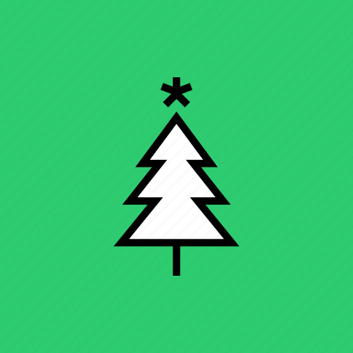 christmas, decoration, easter, snow, star, tree, winter icon