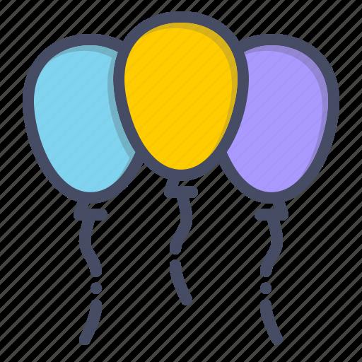 balloon, celebrate, celebration, festival, festive, joy, merry icon