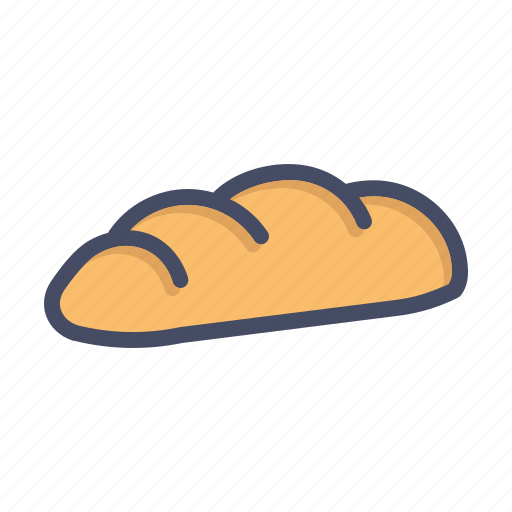 bake, bakery, bread, breakfast, gluten, slice, wheat icon