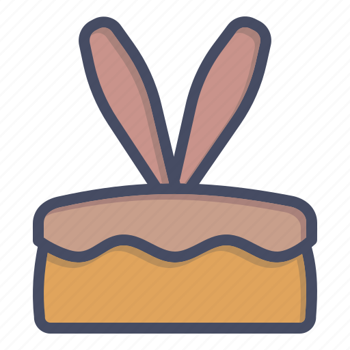 bunny, cake, dessert, ears, easter, rabbit icon