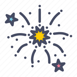 bang, celebration, festival, fireworks, new, stars, year icon