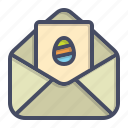 card, easter, envelope, greetings, mail, wishes icon