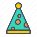 carnival, celebration, clown, cone, joy, merry, party icon