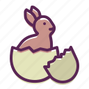 bunny, cute, easter, egg, hatch, rabbit