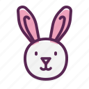 cute, easter, bunny, rabbit, happy