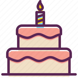 birthday, cake, candle, celebration, christmas, easter, festival icon