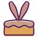 bunny, cake, dessert, ears, easter, rabbit
