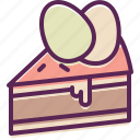 cake, dessert, easter, egg, paschal, slice icon