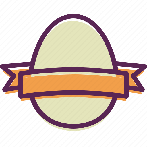 decorated, decoration, easter, egg, paschal, ribbon icon