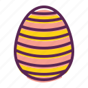 egg, paschal, stripes, decoration, waves, decorated, easter