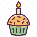 cake, candle, cup, dessert, easter, muffin, pastry icon