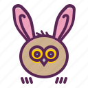 bunny, ears, easter, owl, rabbit