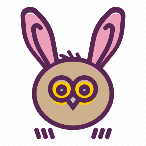 Bunny, ears, easter, owl, rabbit icon - Download on Iconfinder