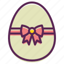 easter, paschal, bow, decoration, decorated, egg, ribbon