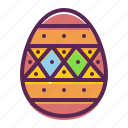 dots, easter, paschal, stripes, decoration, decorated, egg