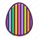 decorated, decoration, easter, egg, paschal, stripes