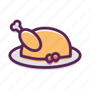 chicken, lunch, meal, meat, roast, turkey icon
