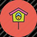 birdhouse, chicken, chickling, easter, home, nest