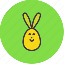 bunny, decorated, ears, easter, egg, paschal, rabbit
