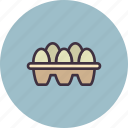 box, easter, egg, eggs, food, score icon