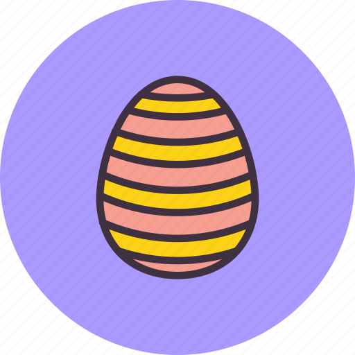 decorated, decoration, easter, egg, paschal, stripes, waves icon