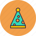 carnival, celebration, clown, cone, fun, joy, party icon