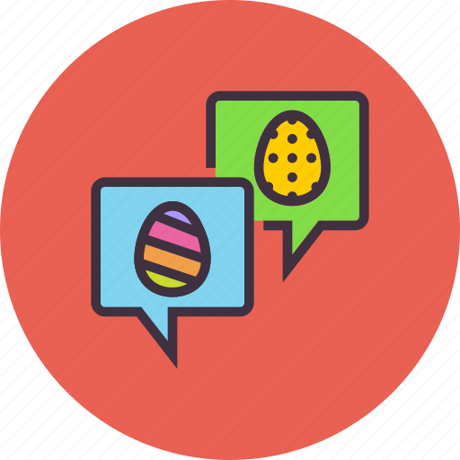chat, easter, greetings, message, wishes icon