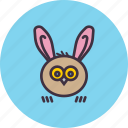 animal, bunny, ears, easter, owl, rabbit icon