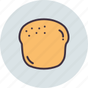 bagel, bake, bakery, bread, pastry, scone icon