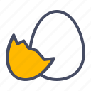 chicken, chickling, easter, egg, hatch, shell icon