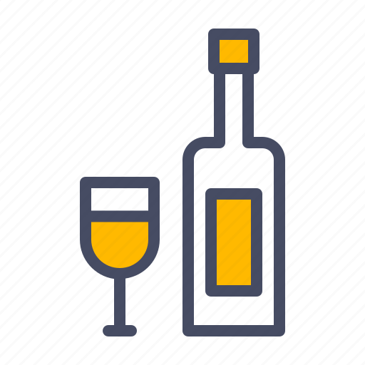 bottle, celebrate, celebration, drink, glass, party, wine icon