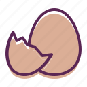 chickling, easter, egg, hatch, shell icon