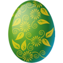 easter, egg, green