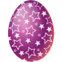 easter, egg, pink icon