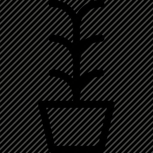 flower, garden, leaves, plant, pot icon