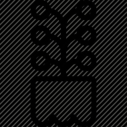 flower, garden, plant, pot, table icon