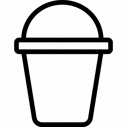 bucket, decoration, gardening, pot icon