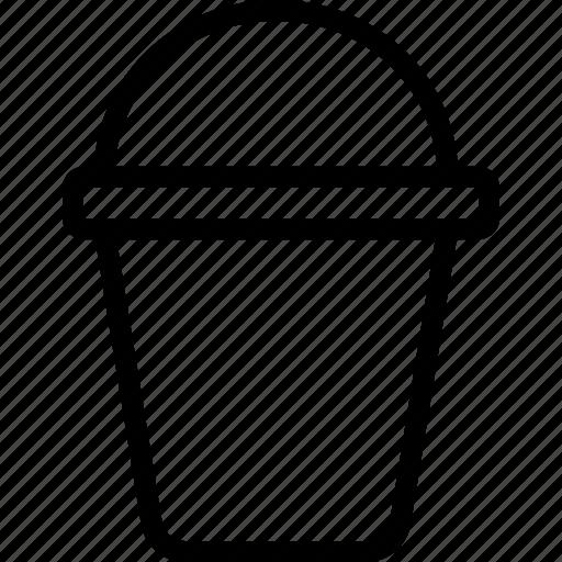 bucket, decoration, gardening, pot icon