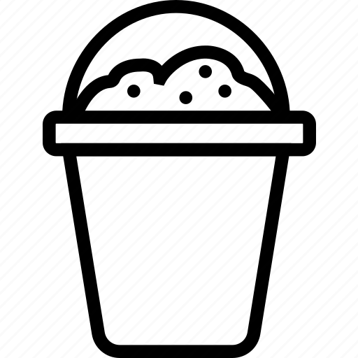 bucket, pot, sand, soil icon