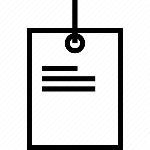 Instruction Label Paper Tag Icon