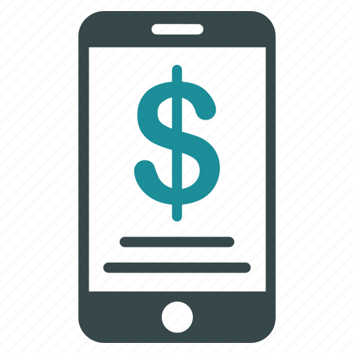 mobile, money, payment, phone, technology icon