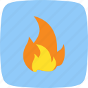 bonfire, burn, fire, flame icon