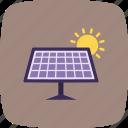 energy, solar energy, solar panel, solar plate icon