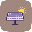 energy, panel, solar, sun icon