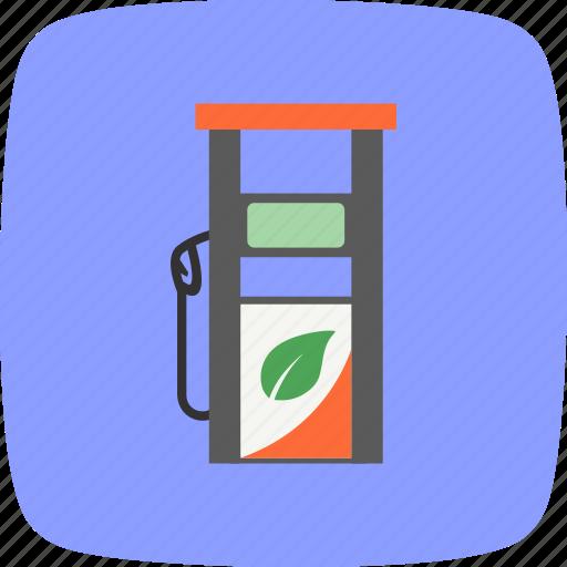 eco station, fuel, gas icon