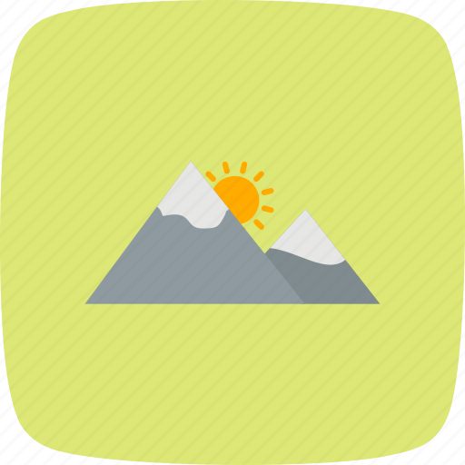 gallery, mountain, nature, sunset icon