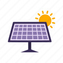 electricity, energy, solar energy, solar panel icon