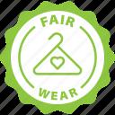 green, label, fair wear, slow fashion icon